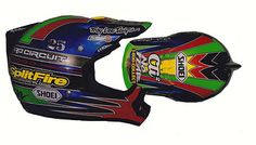 1999 Troy Lee Designs Splitfire Pro Circuit Shoei VFX-R of Nathan Ramsey | Flickr - Photo Sharing!