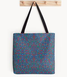 Norwegian Heritage Tote Bags. Inspired by the Norwegian 'Bunad' folk costumes from Norway. Shown here is Bergen.