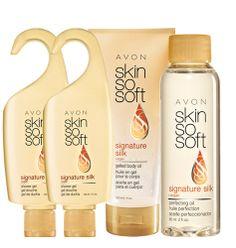 Avon: SKIN SO SOFT Signature Silk 4-Piece Silky Comfort Collection