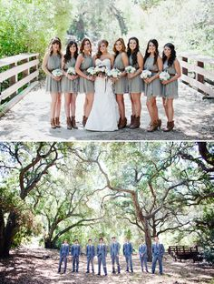 Cute country wedding.