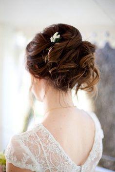 Coiffure mariage : California Ranch Wedding on a Budget: Julia and Luciano Wedding Up Do, Wedding Hair And Makeup, Bridal Hair, Hair Makeup, Gold Wedding, Bride Hairstyles, Pretty Hairstyles, Bridal Beauty, Bridesmaid Hair