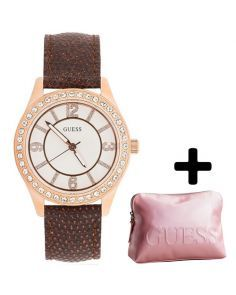 White Stainless Steel Eye Candy Watch with Free Pouch - W0512L1