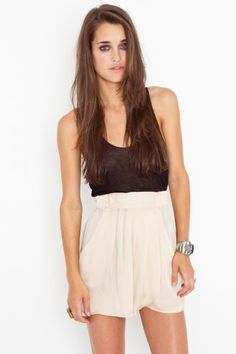 BB Dakota Alythea Draped Shorts