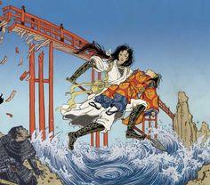 Moribito : guardian of the Spirit / by Nahoko Uehashi ; [translated by Cathy Hirano ; illustrated by Yuko Shimizu]. Fantasy Fiction, Fantasy Books, Yuko Shimizu, Female Hero, Ghost In The Shell, English, Mini Books, Architecture Art, Audio Books