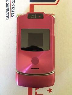 motorola razr flip phone pink. motorola razr v3xx pink at\u0026t cellular 3g flip gsm basic phone - great, working razr pink