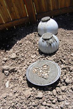 Design Gal & Her Handyman: {concrete garden balls}