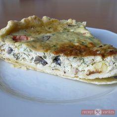 Gombás quiche Quiche, Bacon, Breakfast, Food, Morning Coffee, Essen, Quiches, Meals, Yemek