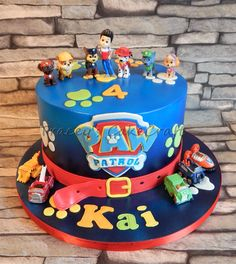 Pj Masks Birthday Cake, 4th Birthday Cakes, Pastel Paw Patrol, Torta Paw Patrol, Paw Patrol Birthday Theme, Festa Pj Masks, Pin On, Cakes For Boys, Cake Creations