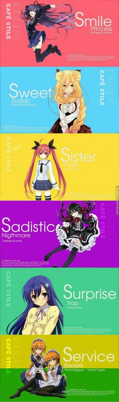 Blend S and date a live crossover,not bad ( ̄▽ ̄) Date A Live, Anime Character Names, Anime Characters, Fan Art Anime, Anime Art Girl, Anime Date, Anime Stories, Chica Anime Manga, Poster S