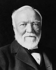 Andrew Carnegie. One of the richest men in the world who gave a large portion of his fortune to establish libraries in the UK, the US, Canada and many other countries.
