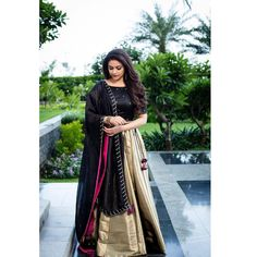 Keerthy Suresh Beautiful HD Photoshoot Stills & Mobile Wallpapers HD Kerala Saree Blouse Designs, Half Saree Designs, Lehenga Designs, Dress Designs, Churidar Designs, Lehenga Gown, Lehnga Dress, Lehenga Blouse, Indian Designer Outfits