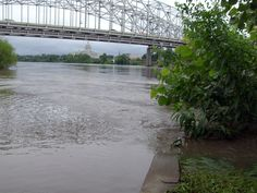 Jefferson City Bridge with Missouri Capitol in background.