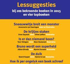 Lessuggesties om te praten over boeken en meer bij 6 bekroonde boeken van 2015 en 4 topboeken.