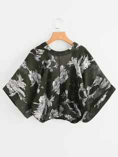 To find out about the Random Florals Kimono Sleeve Surplice Blouse at SHEIN IN, part of our latestBlouses ready to shop online today! Florals, Floral Tops, Kimono, Random, Blouse, Sleeve, Womens Fashion, Fabric, Romwe