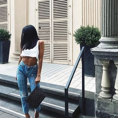 Follow @brittanymd_ for poppin looks ✨. girl fashion outfit style clothes hair lips eyes beauty shoes high heels. #fashion #ootd #streetstyle