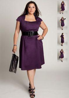 Apple Shape Dresses - Purple dress from Tyra  Would like sleeve a little longer