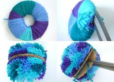 ▷ 1001 + ideas sobre cómo hacer pompones de lana Wool pom poms with thread in different colors, fun Diy Arts And Crafts, Cute Crafts, Crafts For Kids, Diy Crafts, Preschool Crafts, Pom Pom Crafts, Yarn Crafts, Sewing Crafts, Pom Pom Diy