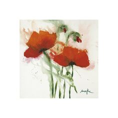 Poppies in the Wind II Wall Art Print (€18) ❤ liked on Polyvore featuring home, home decor, wall art, wall-cover, wall coverings, mounted wall art, poppy wall art and poppy poster