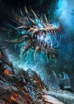 awesome blue skeletal dragon... used this pic for a Yu-Gi-Oh card idea :)