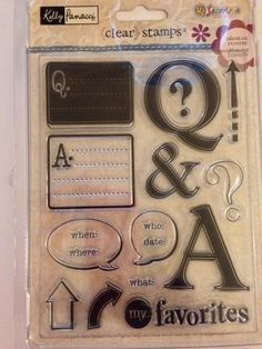 Clear Stamp Set  NEW  Question and Answer  by CynthiasCraftingNook
