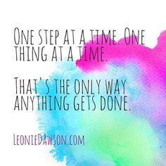 Wisdom for your inspiring life + inspiring biz. Feel free to share along! ♥ ♥ www.LeonieDawson.com