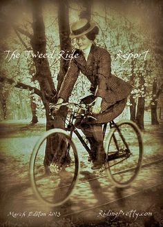 The Tweed Ride Report March 2013 Edition with Victoria Pendleton-in-1890s-Tweed-bicycle-outfit-Tweed-Ride-Style