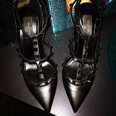 All black Valentinos ❤️❤️❤️❤️