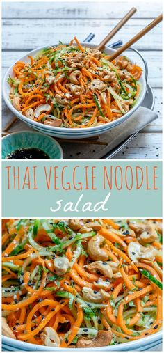 Thai Veggie Noodle Salad to Lower Inflammation and Reduce Water Weight! - Clean Food Crush