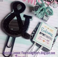 April 2017 CTMH Planner Bling. There is always an AND. Shouldn't it be black glitter? All product CTMH. #CTMH, #CTMH Planner, #Planner Bling, #Planner Monday, #Planner Girls, #Planner Addict.