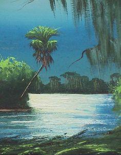 highwaymen paintings | 90: Alfred Hair Florida Highwaymen Painting : Lot 90