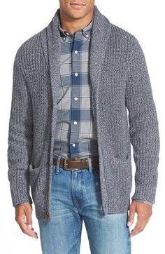 Bonobos Shawl Cardigan available at Fleece Sweater, Men Sweater, Wool Sweaters, Jumper, Latest Mens Fashion, Men's Fashion, Crochet Jacket Pattern, Shawl Collar Cardigan, Nordstrom