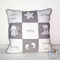 Geburtskissen für Philipp. Throw Pillows, Baby Delivery, Random Stuff, Cushion, Decorations, Colors, Cushions, Decorative Pillows, Decor Pillows