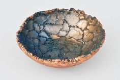 Blue Glass Art Reclaimed Glass Blue and Rose by MiraMiraDesign