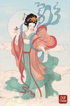 Chang'e ~ Goddess of the Moon ~ by CatOfTheCanals ~ Deity of Clouds Hanfu Dress Up