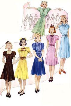 Fashion illustrations, 1938