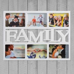 Rámček na rodinné fotky Family (6 fotiek) je fotorámik na viac fotiek na vystavenie rodinných spomienok.