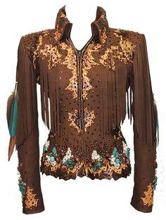 Turquoise Encrusted Fringe Jacket - SOLD!!!