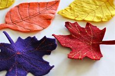 TUTORIAL: Fall Felt Leaves | MADE coffee tables, fall felt, thanksgiving table decor, fall leaves, autumn leaves, fall halloween, felt leav, christmas ornaments, garland