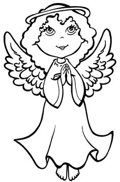 Free Angel Coloring Pages Printable - Printable Coloring Pages To Print Angel Coloring Pages, Coloring Pages For Girls, Coloring Pages To Print, Free Coloring Pages, Printable Coloring Pages, Coloring For Kids, Coloring Books, Coloring Sheets, Precious Moments Coloring Pages