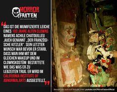 Der Mumifizierte Clown Achile Chatouilleu #horrorfakten