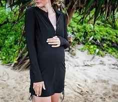 Prefect pregnant Swimwear!  Must have SwimZip swimwear   UPF 50+ swimwear Beach Cover Up Pregnant Swimwear Swim Dress Sun Dress  http://www.SwimZip.com