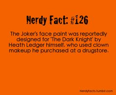 I've always wondered what quality make up they used for Heath ledger's joker look