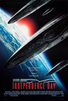 A new licensing show has revealed the first Independence Day 2 poster, which considerable ups the stakes from the first movie. Independence Day 1996, Best Movie Posters, Movie Poster Art, Cinema Posters, See Movie, Movie Tv, Man In Black, Will Smith, Movies Worth Watching