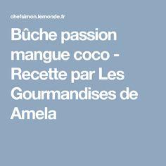 Bûche passion mangue coco - Recette par Les Gourmandises de Amela