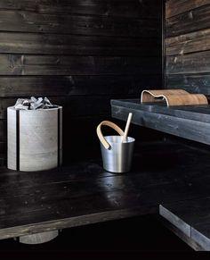 Naava sauna heater by Tulikivi in Asuntomessut, Tampere Finland Sauna Shower, Shower Cabin, Electric Sauna Heater, Family Tree For Kids, Chalet Chic, Chalet Style, Steam Sauna, Spa Rooms, Infrared Sauna