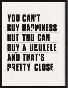 Happiness is a ukulele Cool Ukulele, Ukulele Songs, Ukulele Chords, Luna Ukulele, Ukulele Art, Banjo, Music Stuff, Decir No, Screen Printing