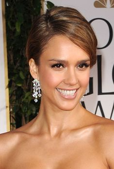 Classic Updo Wedding Hairstyle Idea - Jessica Alba 2012 Golden Globes