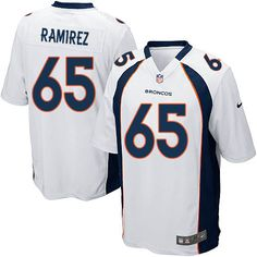 Men's Nike Denver Broncos #65 Manny Ramirez Limited White NFL Jersey Sale