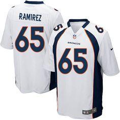 Men's Nike Denver Broncos #65 Manny Ramirez Limited White NFL Jersey Sale
