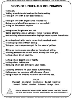 Mental Health- Recreation Therapy Ideas: Signs of Unhealthy Boundaries Coaching, Social Work, Social Skills, Therapy Tools, Therapy Ideas, Art Therapy, Play Therapy, Narcissistic Abuse, Coping Skills